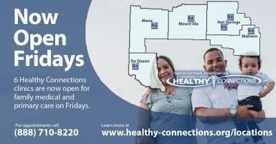 Clinics Now Open Fridays