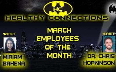 Bahena, Hopkinson March Employees of Month