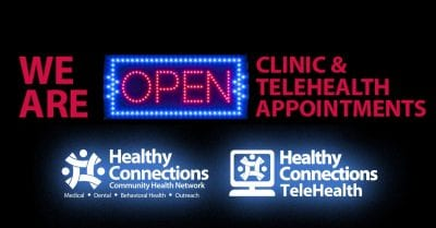 We're Open for Clinic and TeleHealth Appointments, Testing