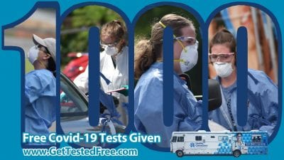More than 1,000 Free Covid-19 Tests Given