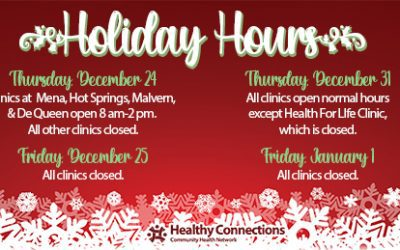 Clinic Holiday Hours