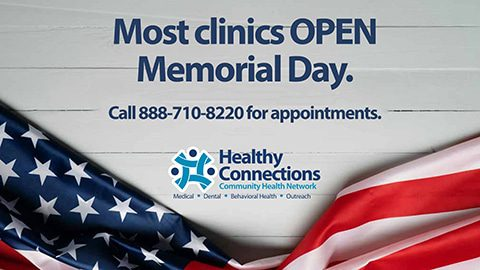 Memorial Day Appointments Available
