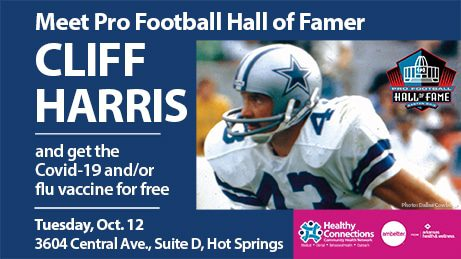 Meet Cliff Harris on Oct. 12 in Hot Springs
